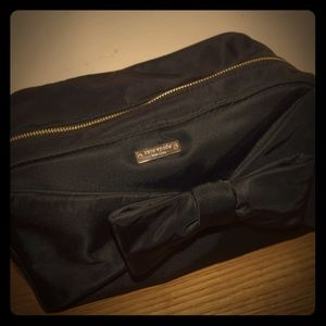 Kate spade nylon bow travel cosmetic bag
